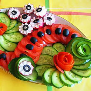 оформление овощные нарезки фото