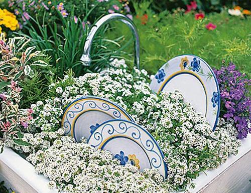 Интересные идеи в оформлении сада