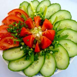 Украшение из овощей, фруктов, красивая нарезка