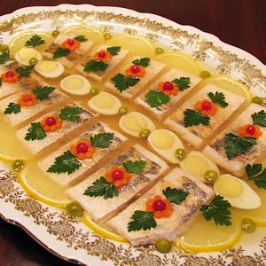 Кулинария оформление заливных