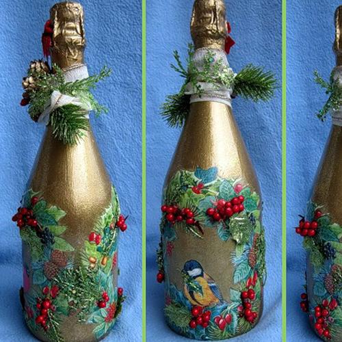 Оформление бутылок своими руками в подарок