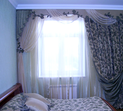 фото штор для дизайн спальни