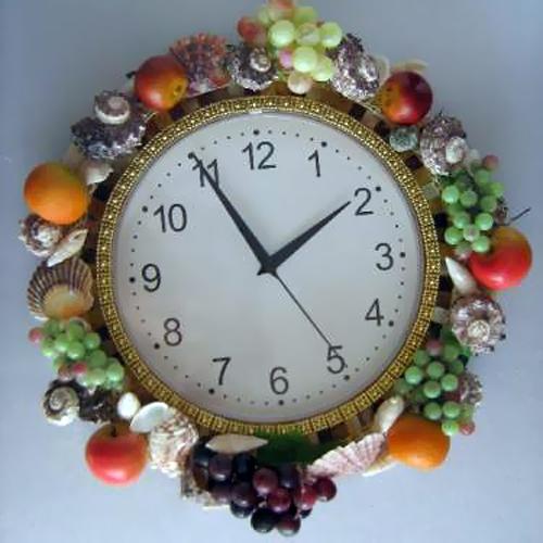 Оригинальное оформление часов своими руками 12